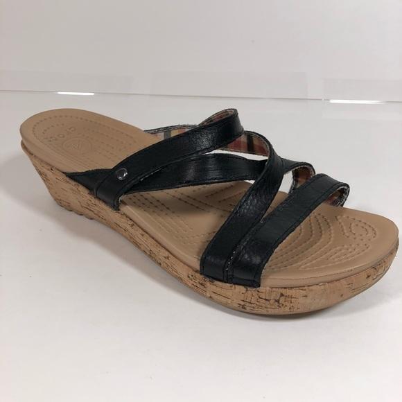 ee44ddd2b CROCS Shoes - Crocs Cork Wedge Sandals